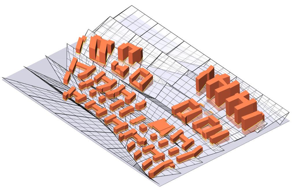 Die fertige städtebauliche Form im Bebauungsplanstadium