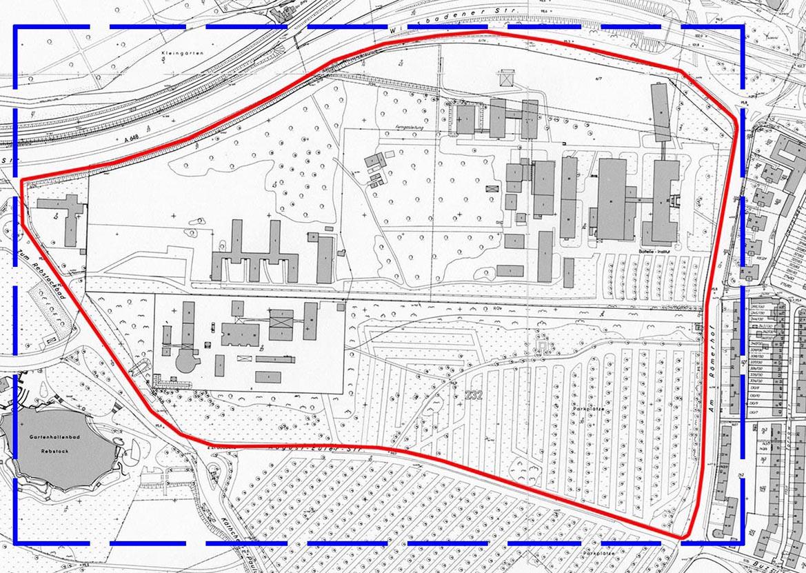 Grenze des Baugebietes