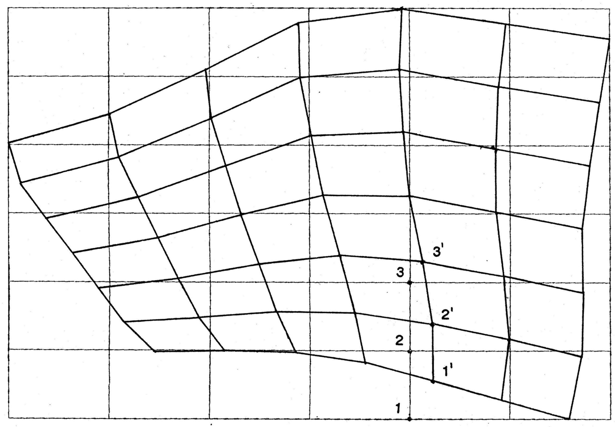 Projektion des Rasters auf den Baugebietsumriss