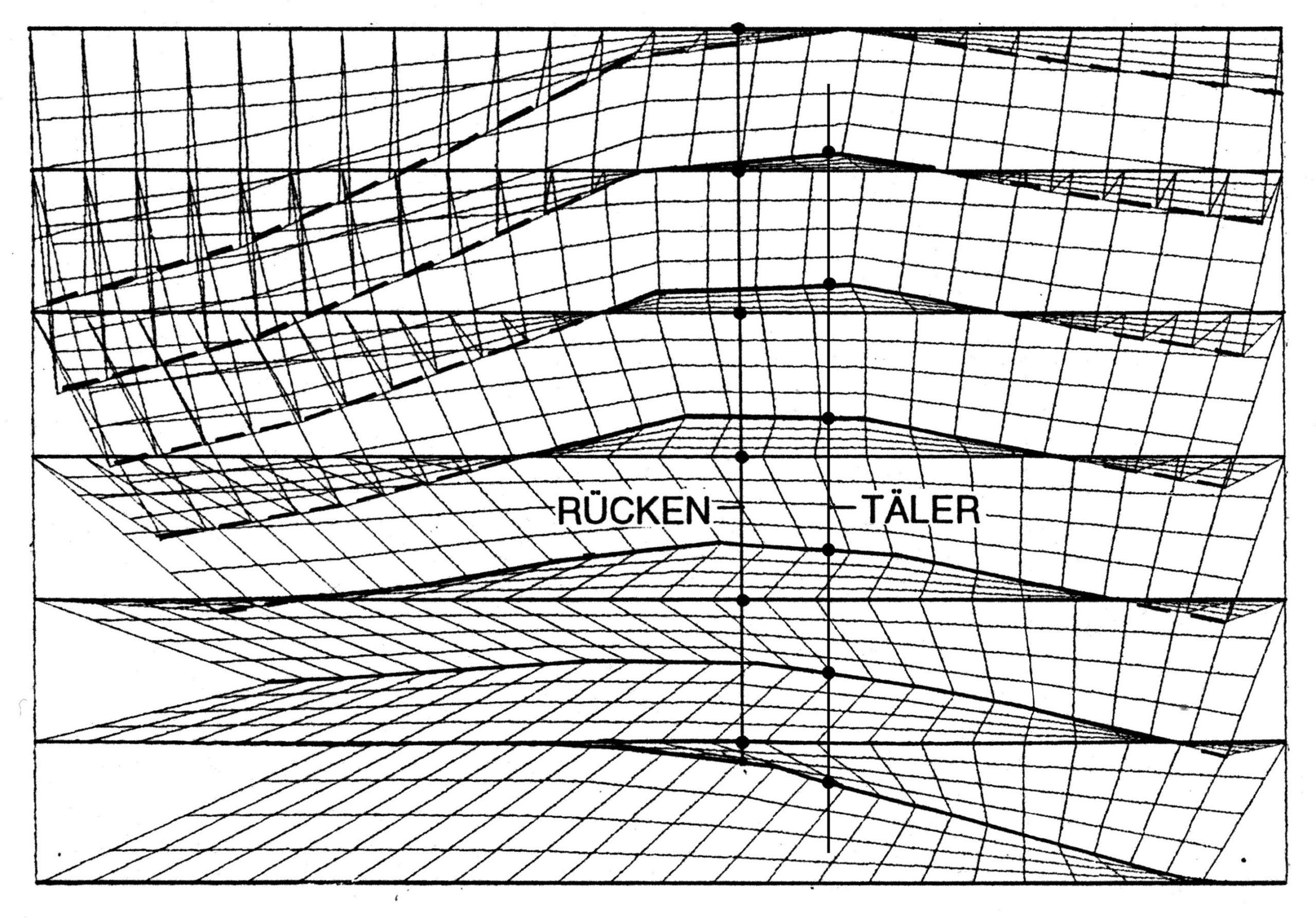 Durchgehendes, dreidimensionales Netz