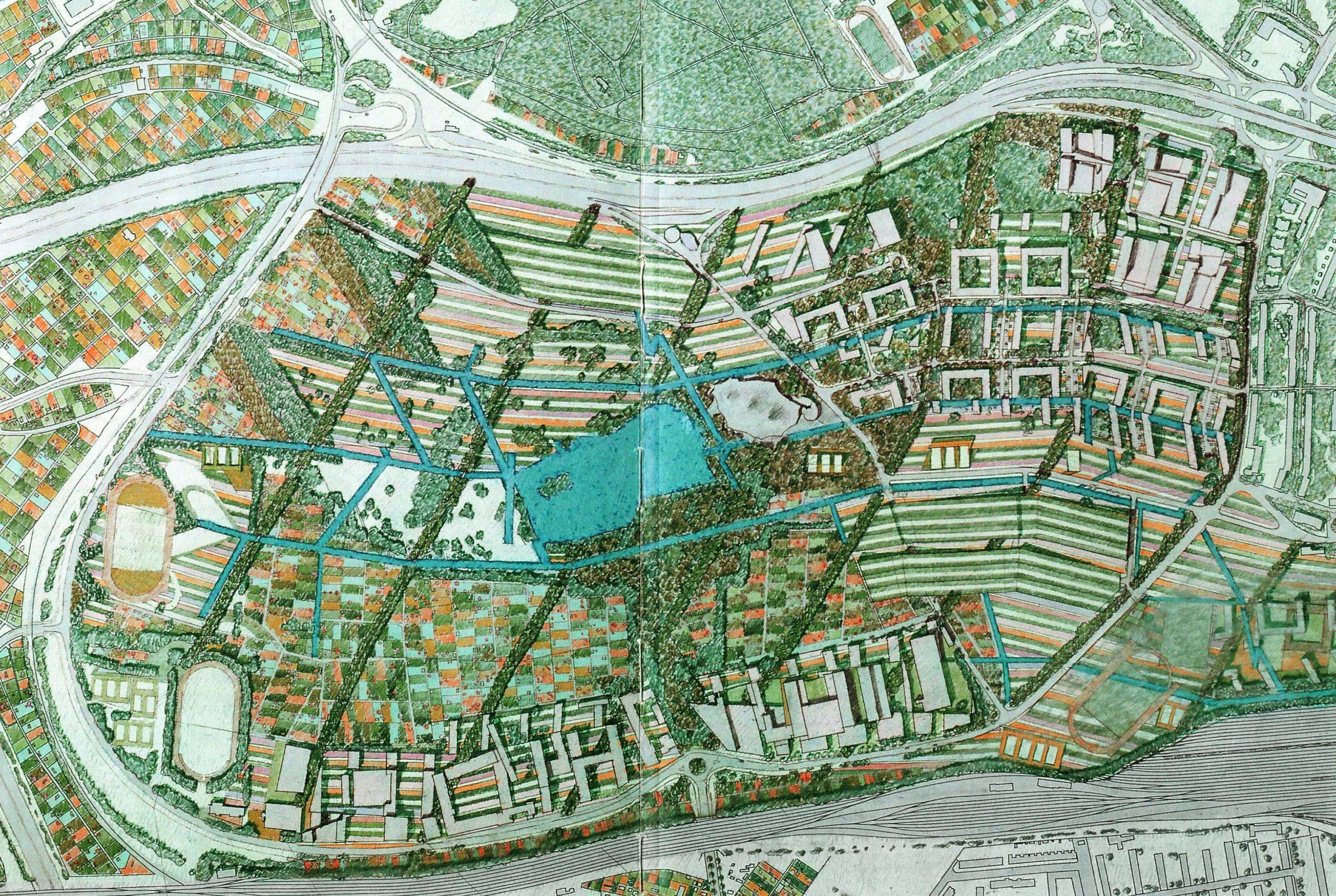 …und den Landschaftsbau des ganzen Stadtteiles