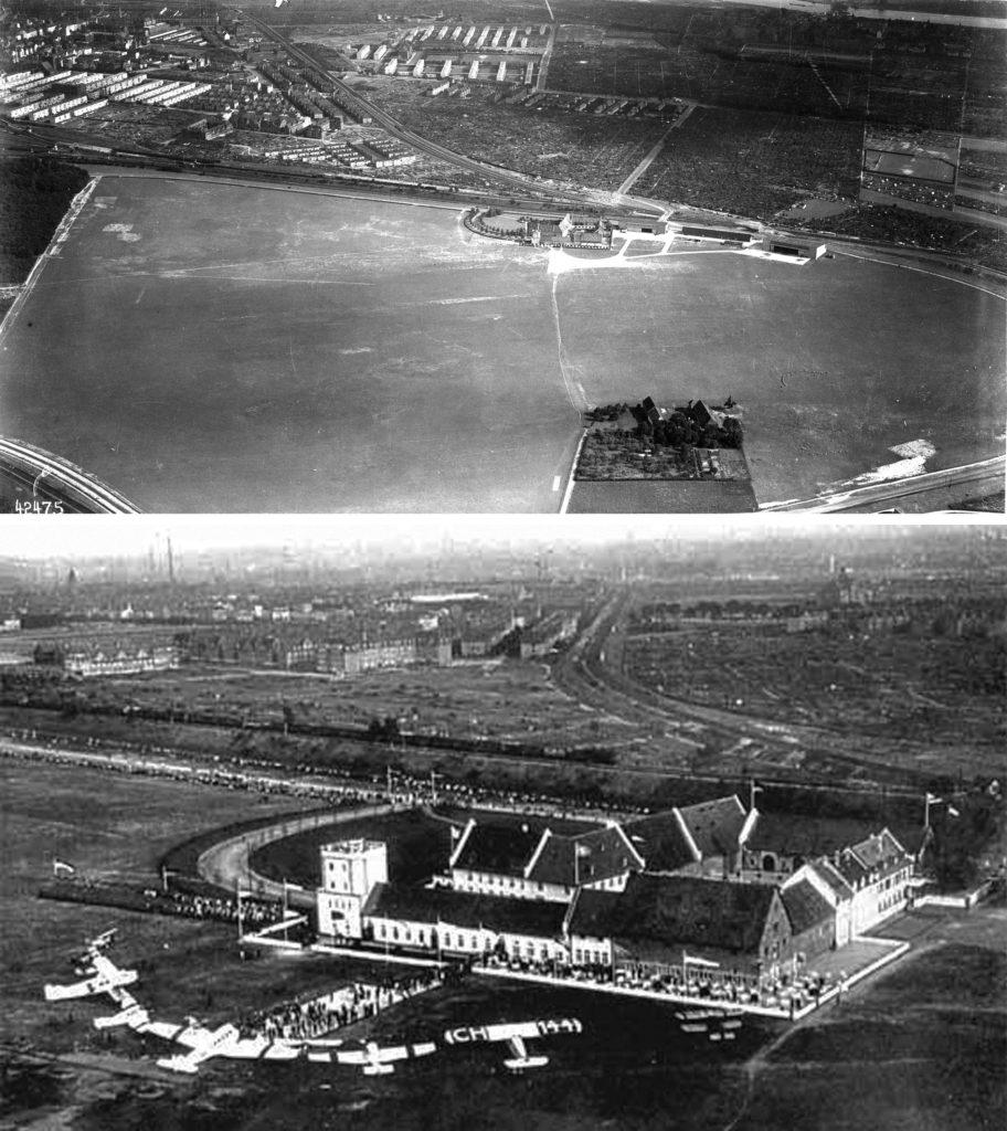 Rebstockhof nach Umbau zum Flughafen (1930)
