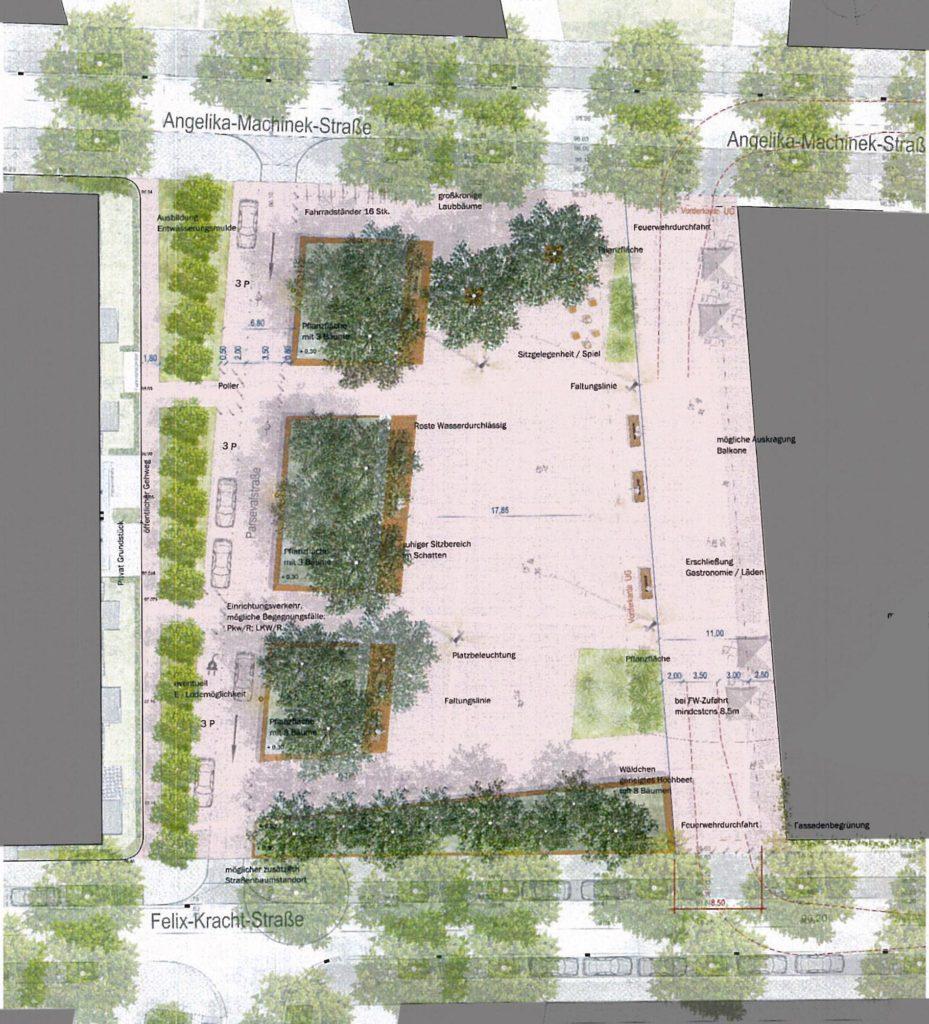 Konzept des neuen Stadtplatzes