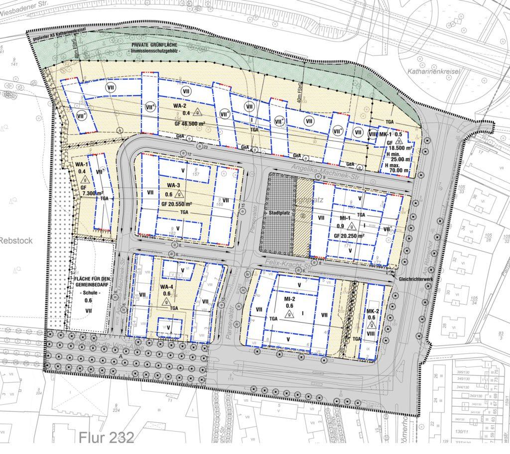 Geänderter Bebauungsplan 683 Ä für den Nord-Osten (© Stadtplanungsamt der Stadt Frankfurt am Main)